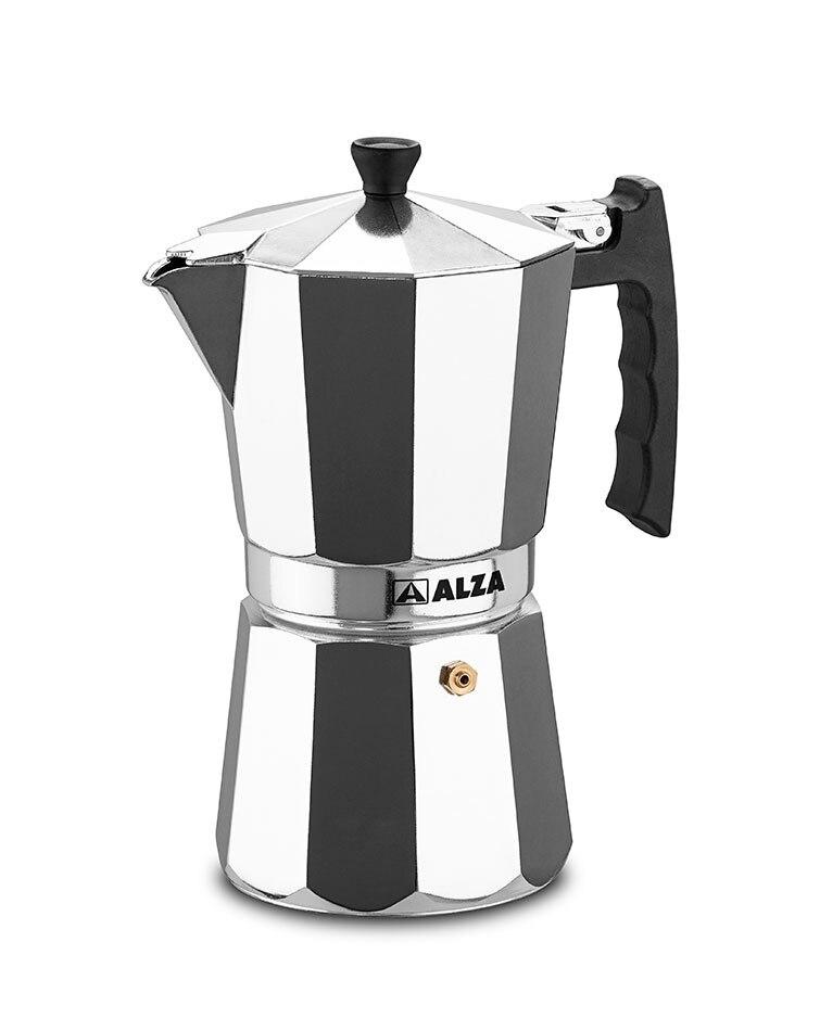 SOARING-LUXE Italian Espresso Maker Aluminum Full-induction 12 Cups
