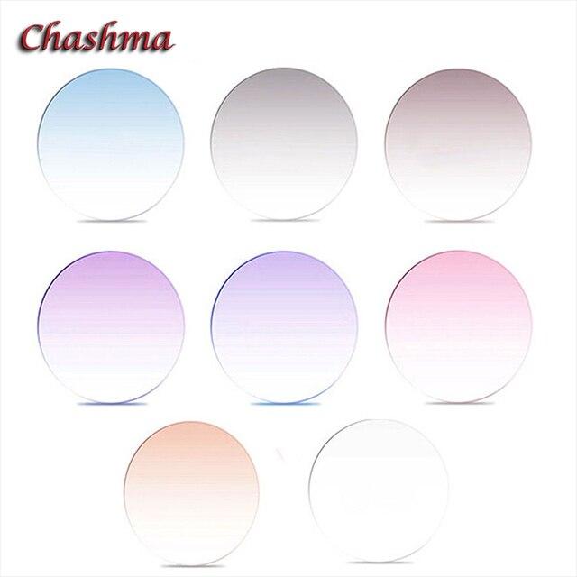 Chashma Brand Quality 1.67 index M7 Lenses Tint Prescription Myopia and Reading Recipe Color Lenses