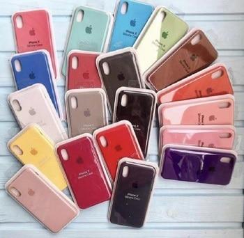 Чехол Оригинальный для lphone 7 8, 7 + 8 +, X/XS XR 11, 11 PRO 11 Pro Max X XR + логотип. Силиконовый, мягкий бархат