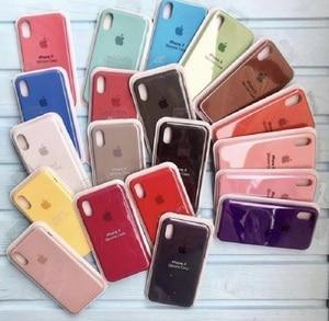 Чехол Оригинальный для lphone 7 8, 7 + 8 +, X/XS XR 11, 11 PRO 11 Pro Max XS XR + логотип. Силиконовый, мягкий бархат