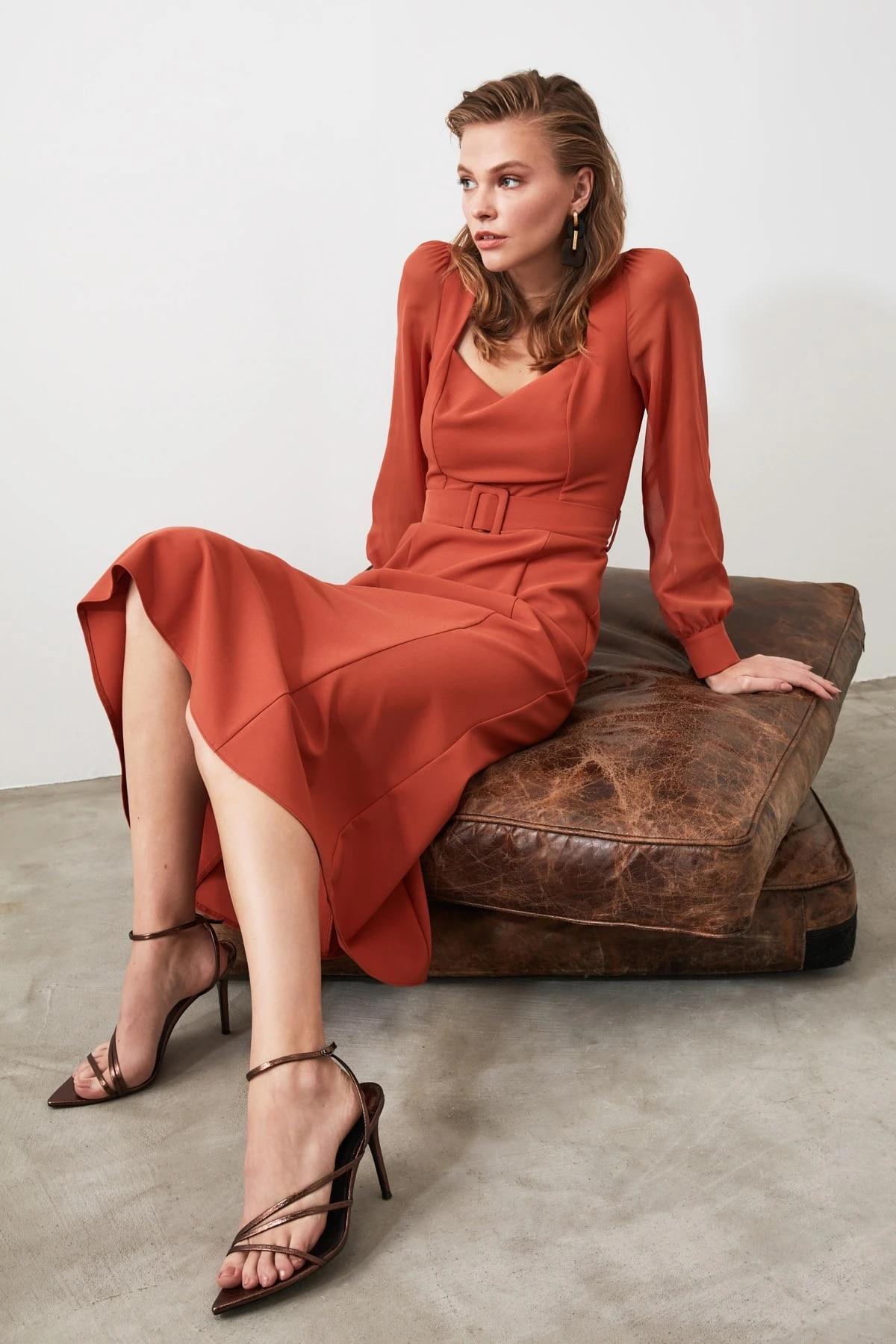 Платье с арочной юбкой TWOAW21EL0352