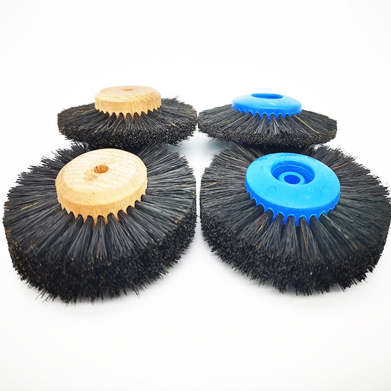 2 Pcs Dental Laboratory Materials Dentistry Odontologia Latch Polishing Brush Wheel Rotary Tools Wool Goat Cotton Black Buff