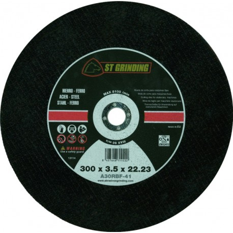 METAL CUTTING DISC STATIONARY 300X3, 5X22 A30OBF GRINDING