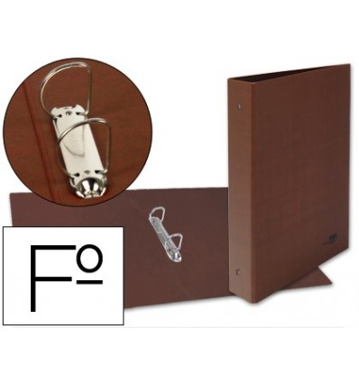 2 'S FOLDER RINGS 40MM MIXED LIDERPAPEL FOLIO CARTON LEATHER LINED COMPRESSOR PLASTICO