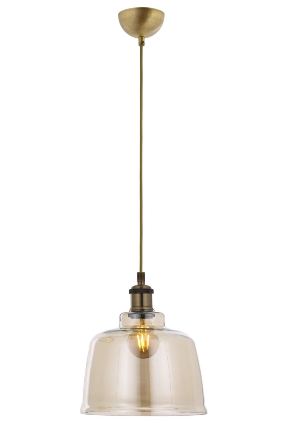 AVONNI AV-60155-1E Antique Plated Modern Chandelier, E27, Metal,