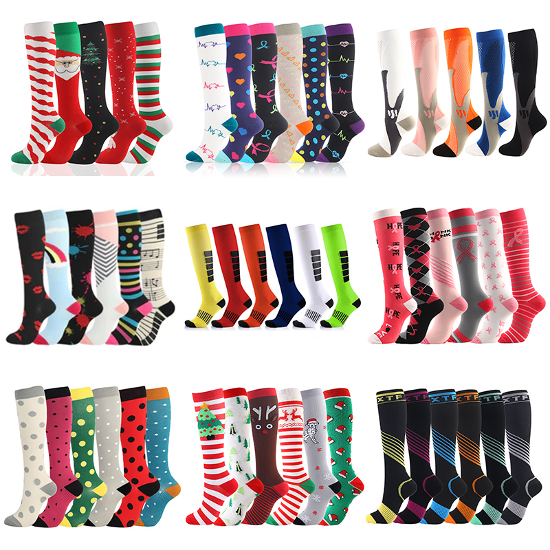 Men Women Compression Socks Fit For Sports Compression Socks For Anti Fatigue Pain Relief Knee Prevent Varicose Veins Socks