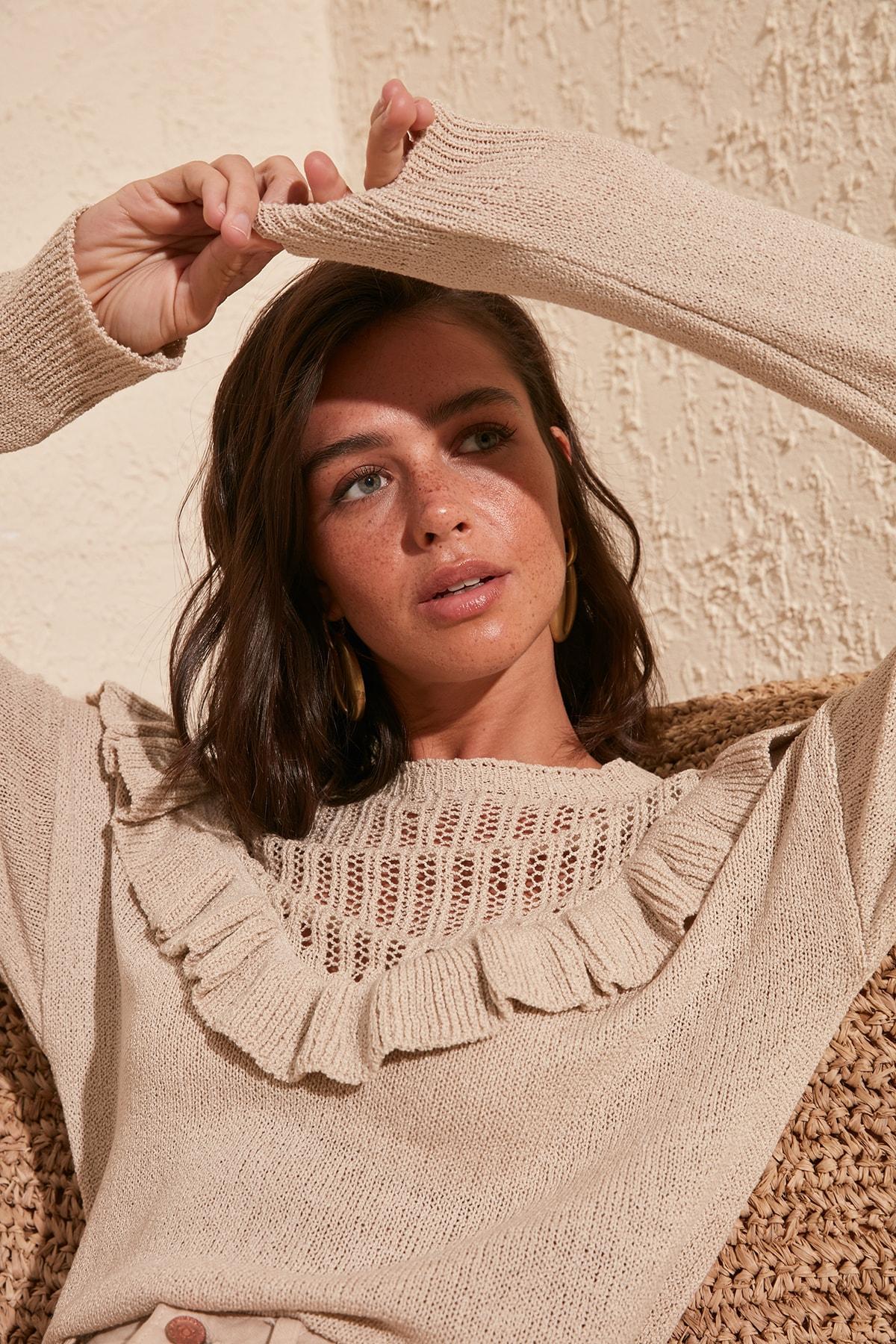 Trendyol Cellular Knitwear Sweater TWOSS20KZ0079