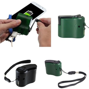Universal USB Hand Charger Outdoor Travel Hand Crank Charging Powerbank Electric Generator Charge Mobile Phone Camera Dynamo new mobile phone emergency power usb hand crank charger electric generator universal mobile charge hand dynamo charging