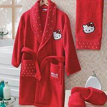 Hello Kitty Bathrobe Towel Set 12-18 Years Red