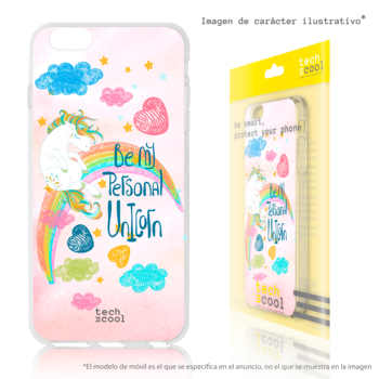 FunnyTech®Silicone stand case for IPhone 6 Plus/6 S Plus frases Unicorns designs selection art illustration 1