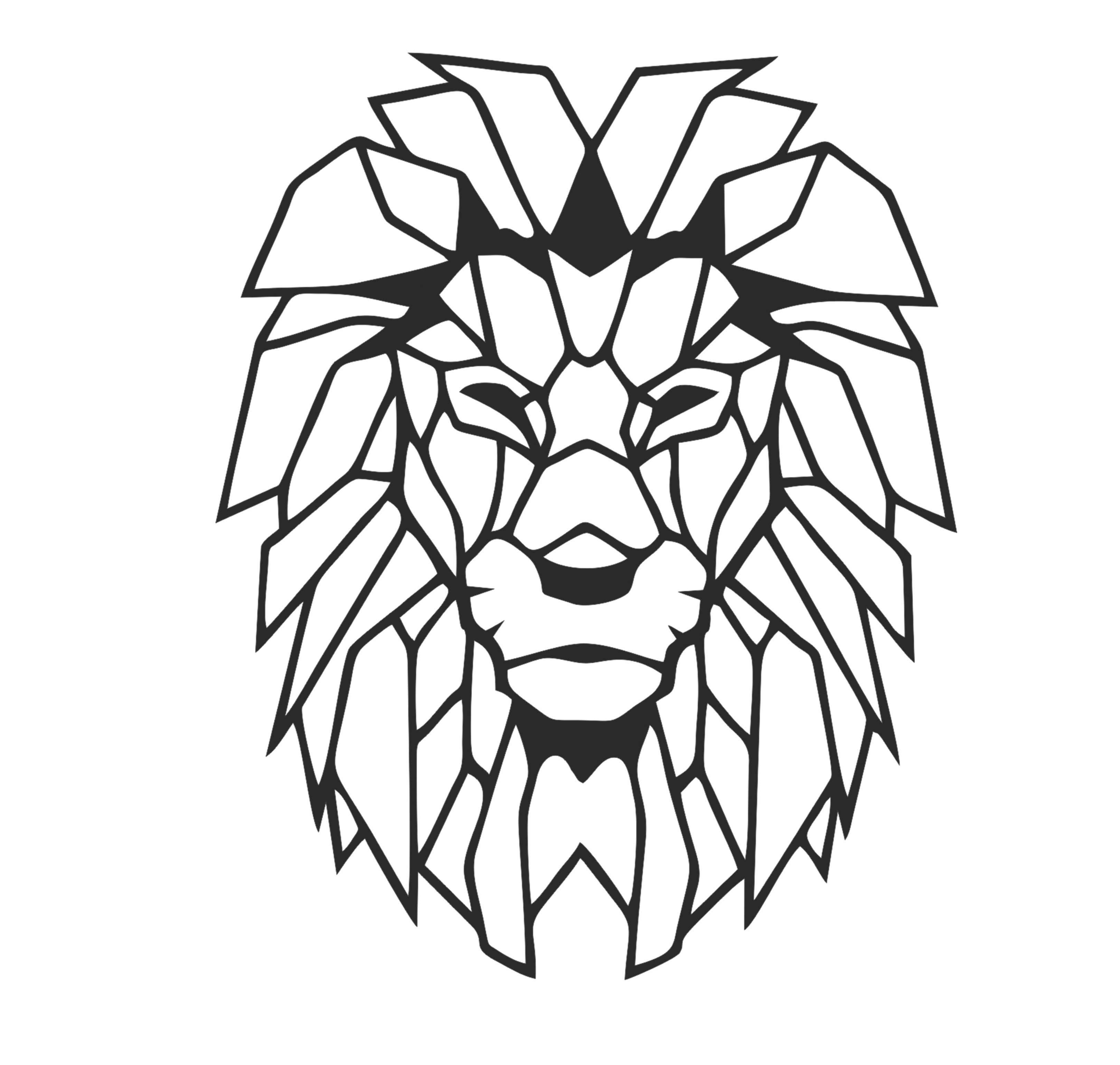 Antdecor Lion Head Metal Wall Art L World Map And World