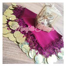 Special Halay Mendili Fusja Fabric Sequins for Bride and Bridesmaids Henna Wedding Dance Scarf Tanztücher Accessories