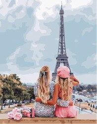 Malerei durch zahlen PK 45006 mit eine freundin in Paris 40*50