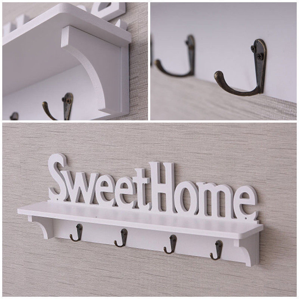 Plastic Wooden Wall Mounted Rack Lettered