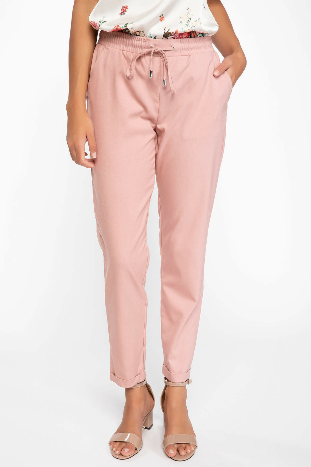 DeFacto Autumn Women Trousers Office Solid Casual Harem Crop Pants Ladies Slim Belt Waist Cargo Pants Female-I7970AZ18AU
