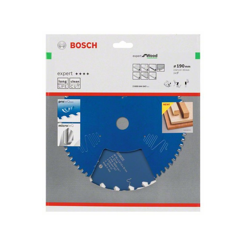 BOSCH-circular Saw Blade Expert For Wood 190x30x2,6mm 24