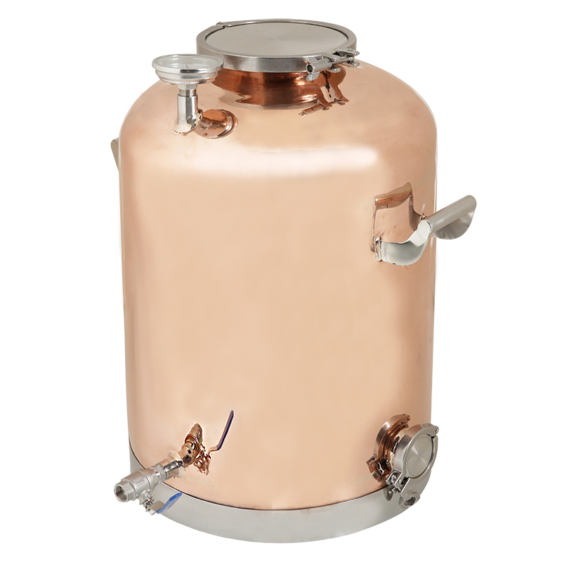 50l (13Gal ) Copper Boiler, Tank For Distillation   . Mirror Polishing.