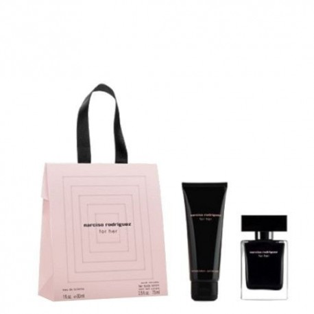 NARCISO RODRIGUEZ FOR HER EDT SPRAY 30ML + LOCION CORPORAL 75ML