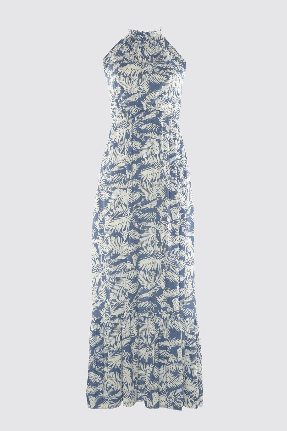 Trendyol Flounces Halter-Neck Dress TWOSS20EL2142