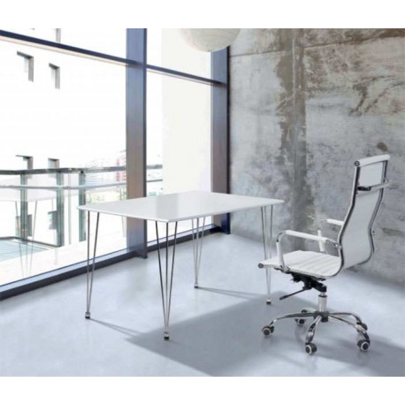 Set Dispatch Table And Swivel Chair White Or Black