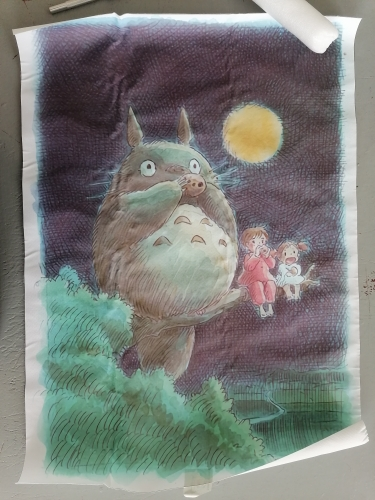 Canvas Painting My Neighbour Totoro Studio Ghibli Anime Posters And Prints Pictures On The Wall Art Decorative Home Decor photo review