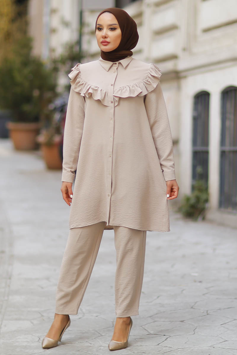 Hijab  Double Muslim Set Muslim Fashion Double Hijab Suit Young Muslim Fashion Muslim Women  2021 new Fashion