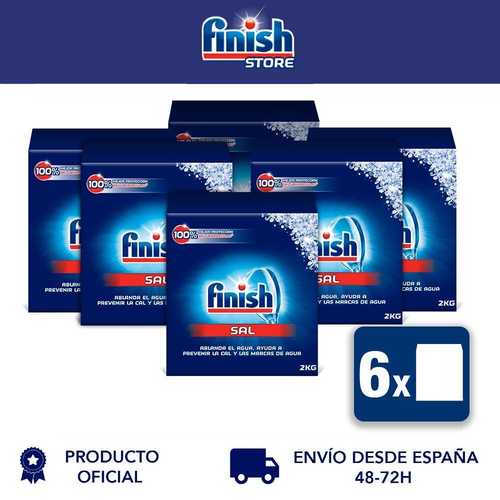 Отделка соль для посудомоечной машины, antical, улучшает посудомоечная машина performance-6x2 кг упаковка-всего 12 кг