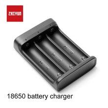 ZHIYUN cargador de batería oficial 18650, 3 ranuras para batería 18650 para grúa 2, estabilizador de mano, cardán, Color negro