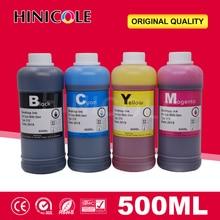 Hinicole طابعة الحبر 500 مللي زجاجة عبوة الحبر عدة لكانون لإبسون ل HP ل Brother خرطوشة الحبر ونظام الحبر كيبك