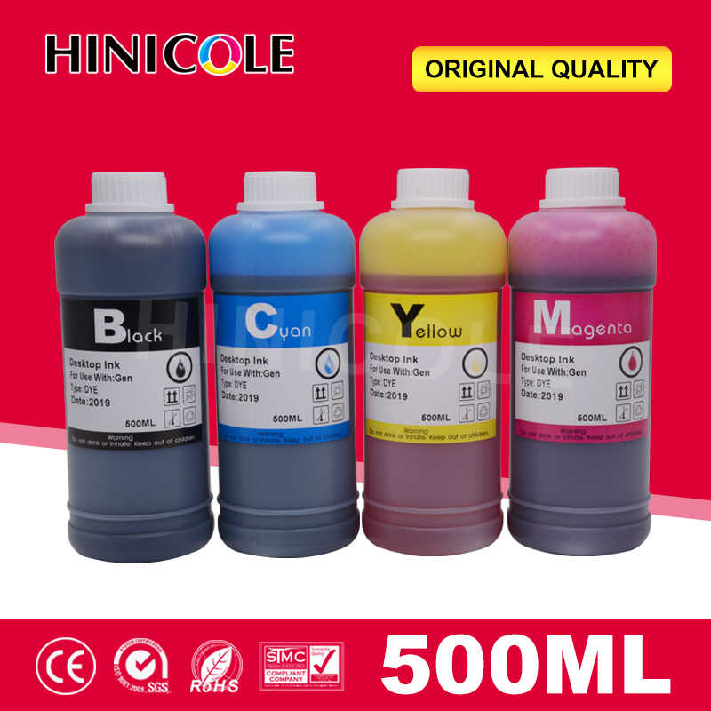 Hinicole Tinta Printer 500Ml Botol Tinta Isi Ulang Kit Untuk Canon Printer untuk HP untuk Brother Tinta Cartridge Dan ciss Tinta Sistem