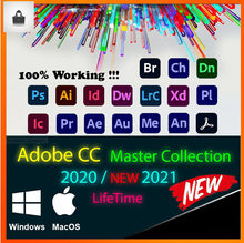 [Mais recente] adobe cc 2020 - 2021 win 10/mac-photoshop, illustrator, after effects, premiere pro, indesign, lightroom