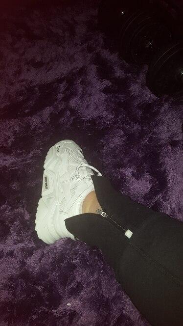 BLWBYL-zapatillas de deporte de malla para mujer, zapatos informales con cordones y plataforma, vulcanizados, color azul y naran