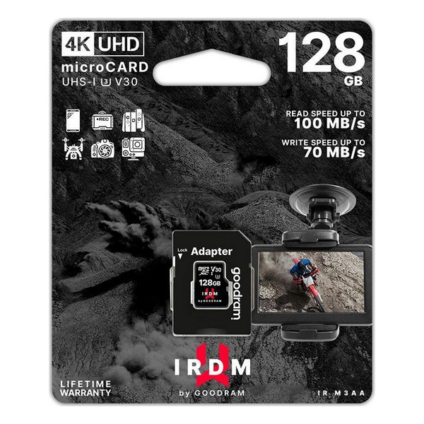 Micro SD Memory Card with Adaptor GoodRam M3AA Memory Cards     - title=