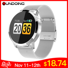RUNDOING Fitness Tracker Heart-Rate-Monitor Smart-Watch OLED Color-Screen Fashion Q8