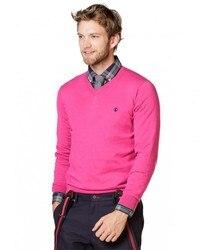 Jersey Brand GOOSE PEAK for Men details fuchsia color