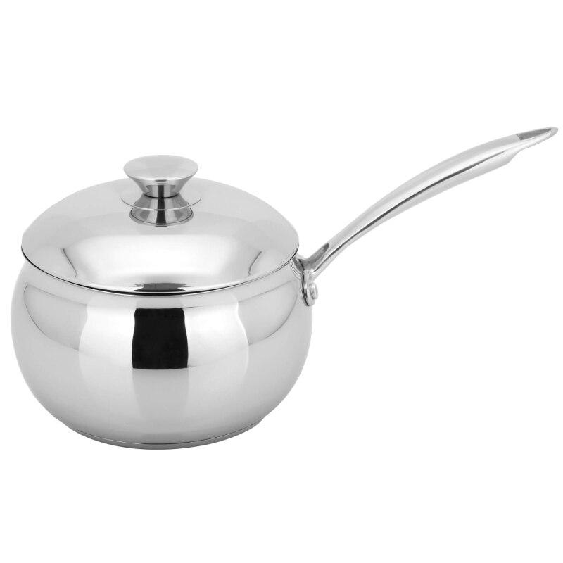 Saucepan with lid GEMLUX GL-SL18 (diameter 18 cm, l, stainless steel bottom sandwich comfortable handle) рожковая кофеварка gemlux gl cm 788