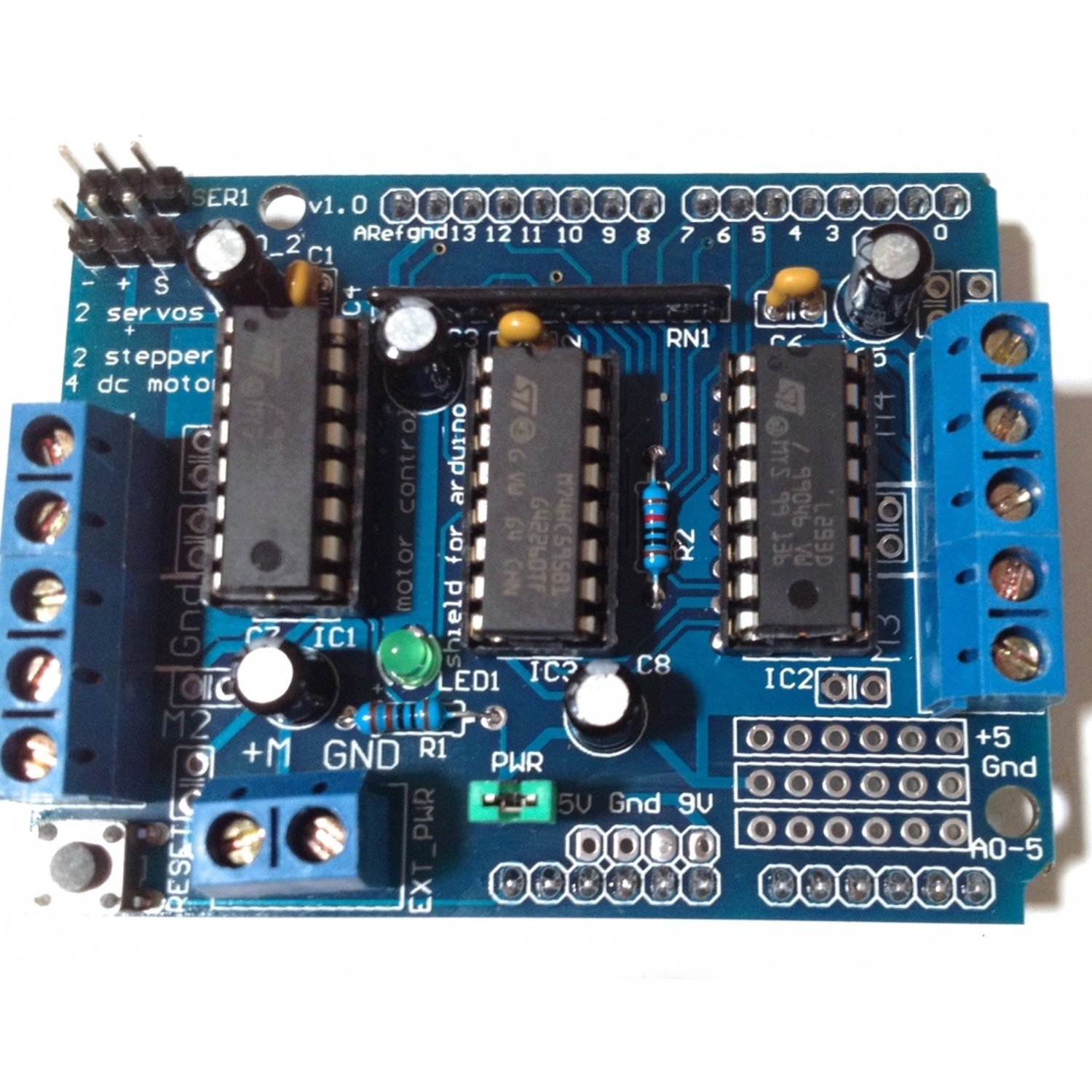 Engine Drive Shield Expansion Board L293D For Arduino Mega2560 and ONE wareshare l293d motor drive control shield board blue black 5v