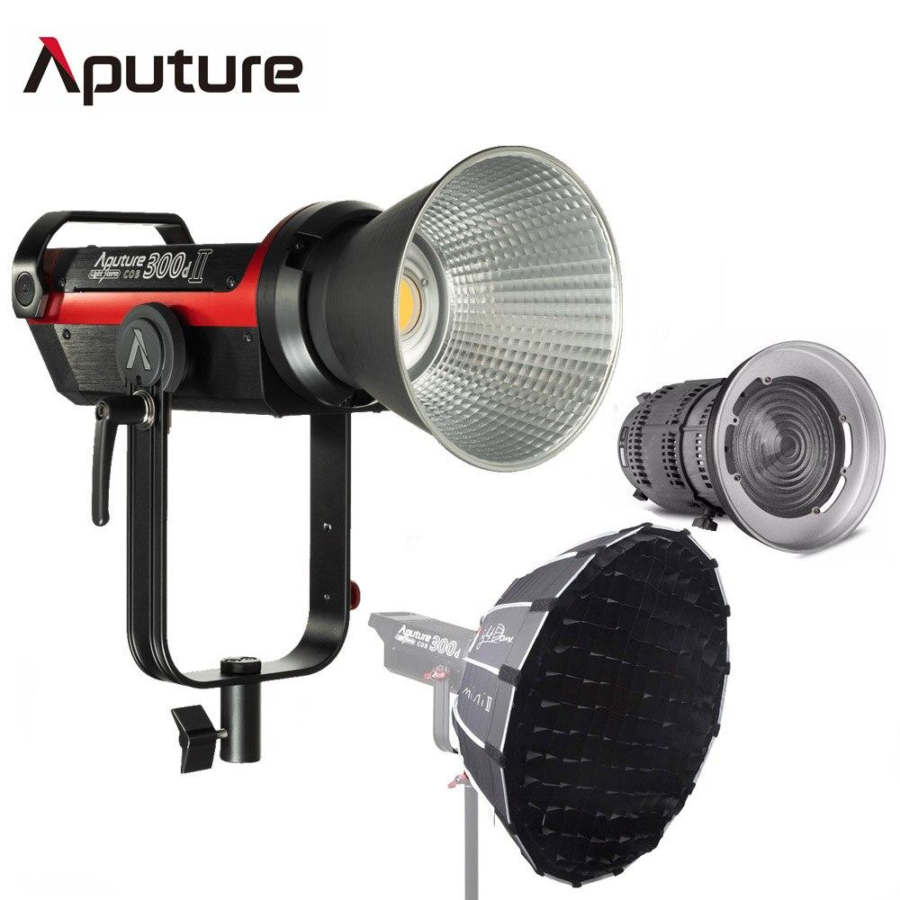 Aputure LS C300d 2 300d II светодиодный видео светильник COB светильник 5500K Дневной светильник Bowens студийная фотография + Fresnel 2x + светильник Dome Mini II