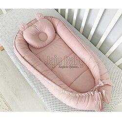 Jaju Baby Plain Powder Color Special Design babynest Baby Nest 100x60