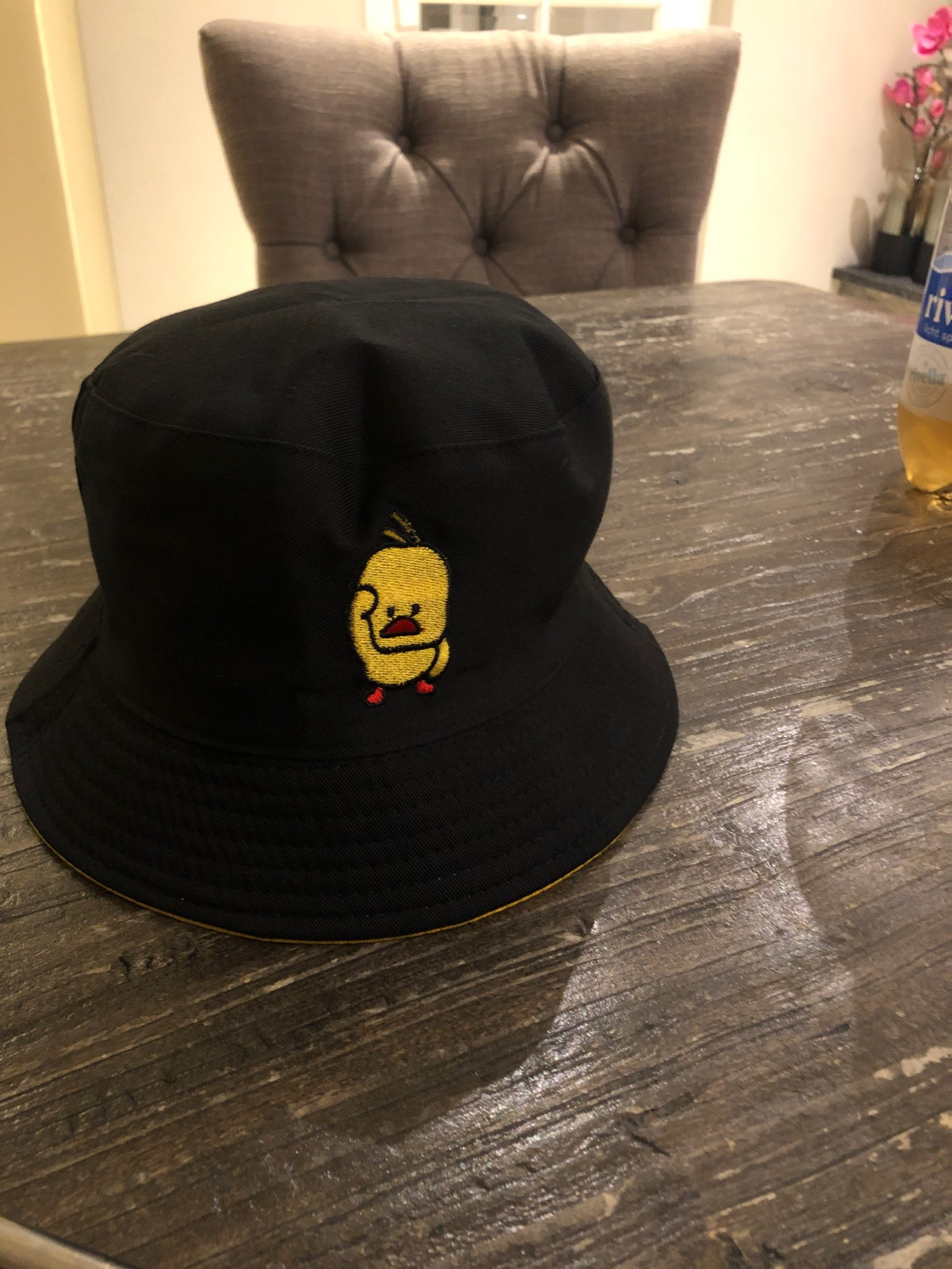 Bucket Hat reversible with cartoon embroidery photo review