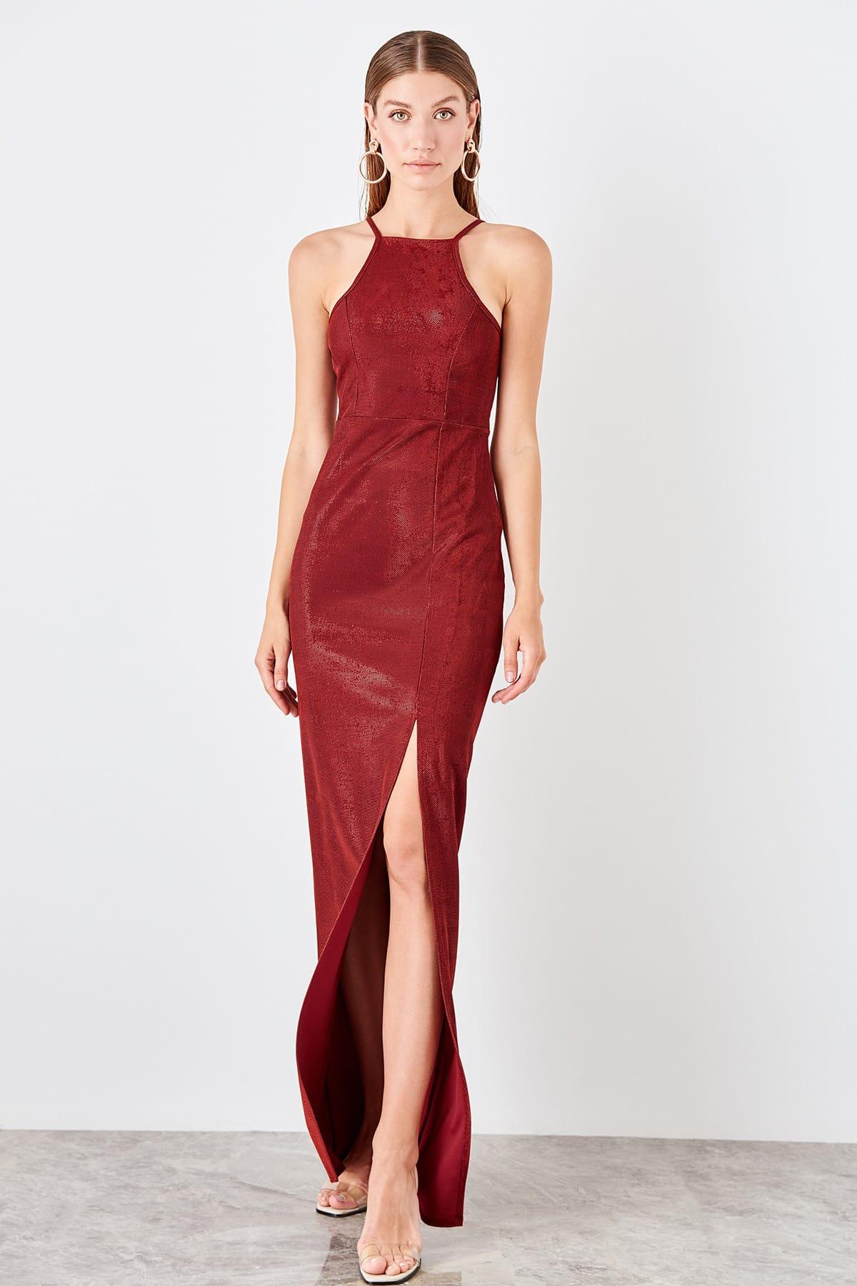 Trendyol Slash Detailed Evening Dress TPRSS19SE0131