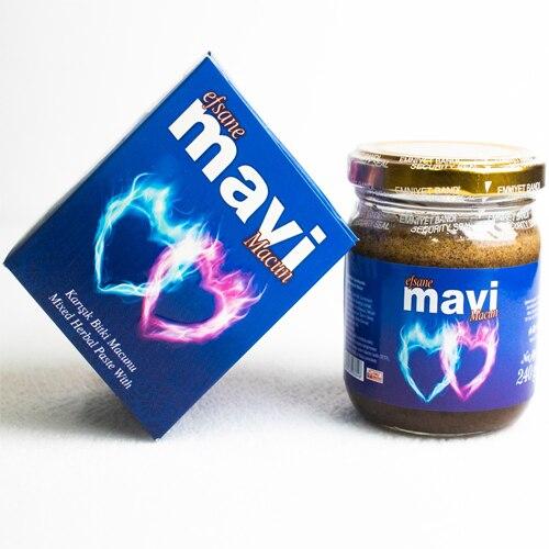 Efsane Mavi Epimedium Turkish Honey Mix Macun Paste – Horny Goat Weed Gindseng Cinnamon  Aphrodisiac Turkish Paste, 240gr, Halal 1