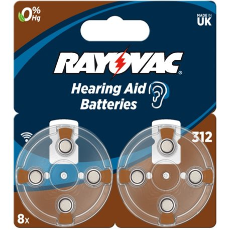 BATTERY HEARING AID 312AU RAYOVAC 8 PC