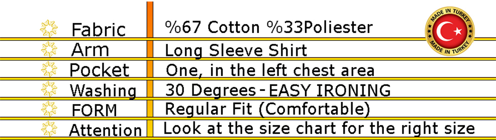 Varetta Men Fashion Print Shirts Long Sleeve Shirts Men Casual Lapel Collar Casual Shirts Tops New Blue Pockets Shirts Male top Made in Turkey Male Social Business Dress Shirt Brand Men Clothing Soft Comfortable