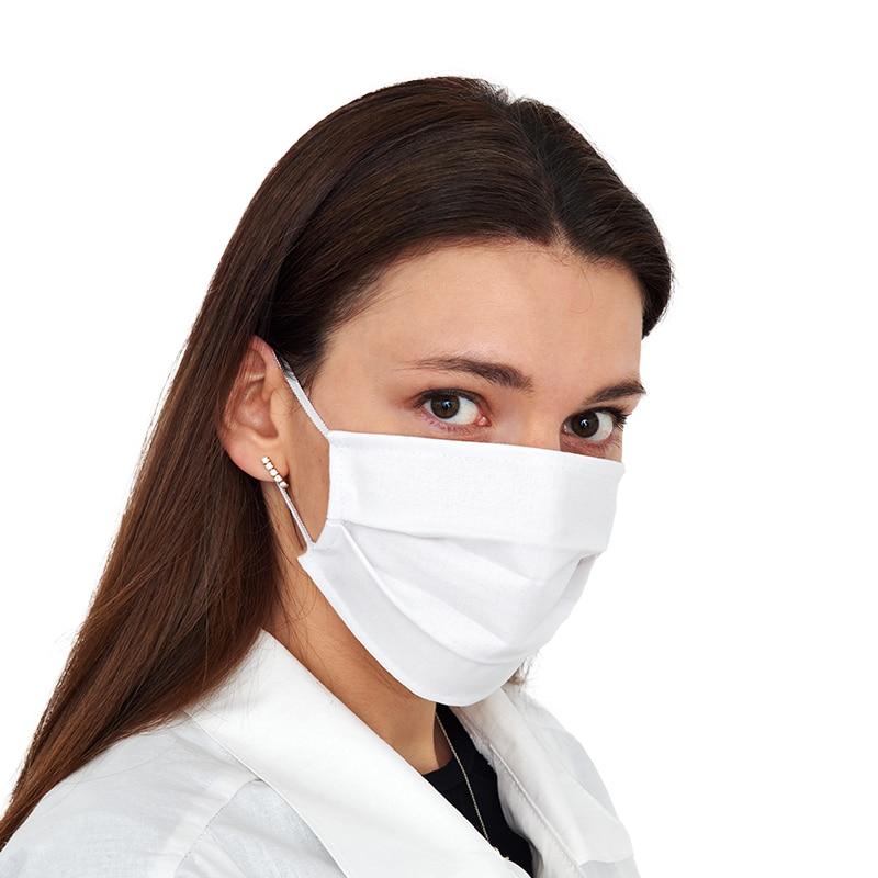 Многоразовые двухслойные гигиенические маски для лица из 100% хлопка, белые, 10/25/50 шт. в упаковке|Маски|   | АлиЭкспресс