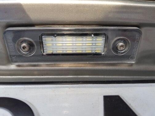 Lâmpada de sinal licença canbus número