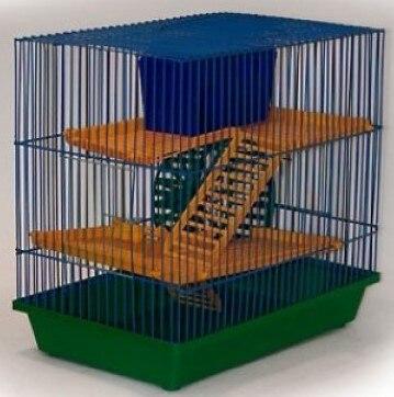 Cage зоомарк трехэтажная No. 135 For Rodents, 36*24*38 Cm.