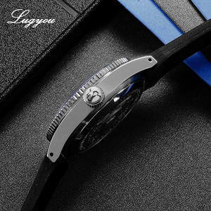 Image 3 - Lugyou San Martin 62Mas Diver Mechanical Automatic Men Watch Stainless Steel NH35 Ceramic Bezel Rubber Band Sapphire Glass