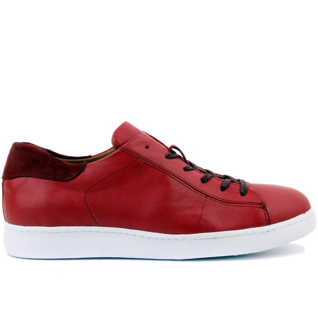 Sail-Lakers Burgundy Leather Men Sneaker