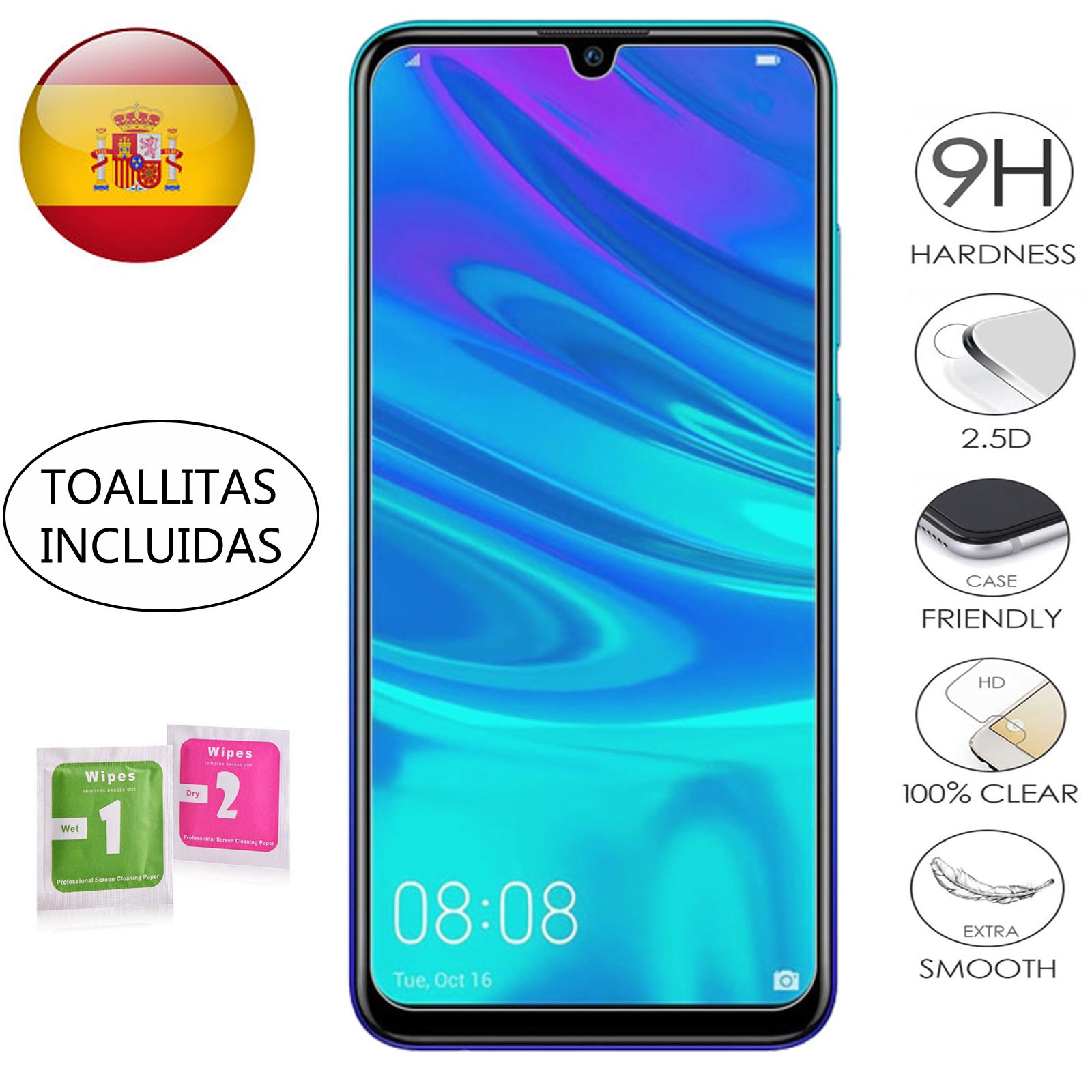 Screen Protector Glass Tempered For Huawei P Smart 2019